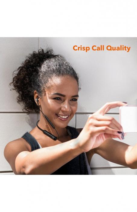 Casti Wireless Bluetooth Neckband TaoTronics TT-BH42, Active Noise Cancelling, Magnetice, Microfon, IPX5, Negru 2