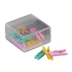 Clesti din plastic cu arc, pentru prindere, 32mm, 10 buc/cutie, ALCO - culori asortate [0]