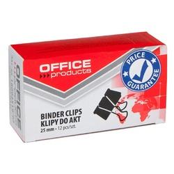 Clip hartie 25mm, 12buc/cutie, Office Products - negru 0