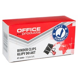 Clip hartie 41mm, 12buc/cutie, Office Products - negru [0]