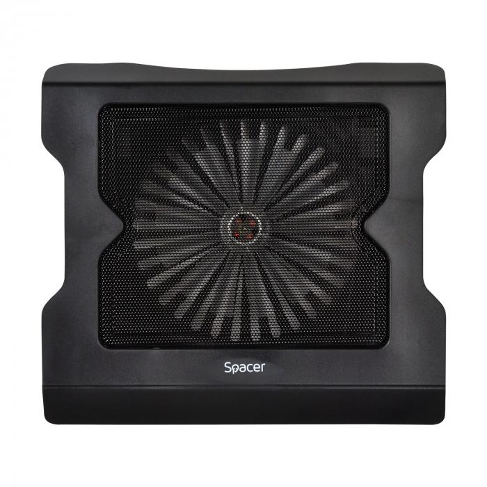 """Cooler Laptop Spacer SPNC-883 17"""", Negru [0]"""