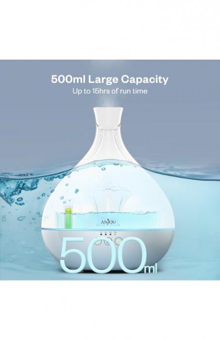 Difuzor aroma terapie Anjou AJ-AD012, 500ml, LED, auto oprire 7