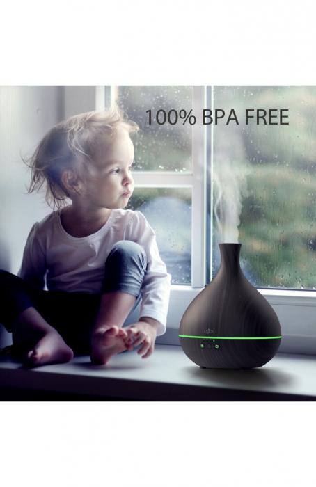 Difuzor aroma terapie Anjou AJ-AD012, 500ml, LED, auto oprire 3