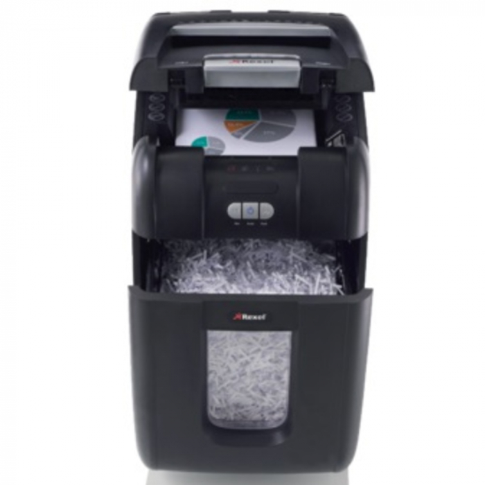 Distrugator Automat documente REXEL Auto+ 200X, 200 coli, P4, cross cut (confeti) 0