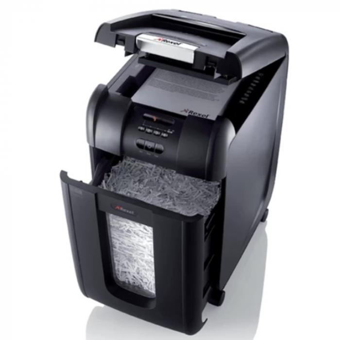 Distrugator Automat documente REXEL Auto+ 300X, 300 coli, P4, cross,cut (confeti) [0]