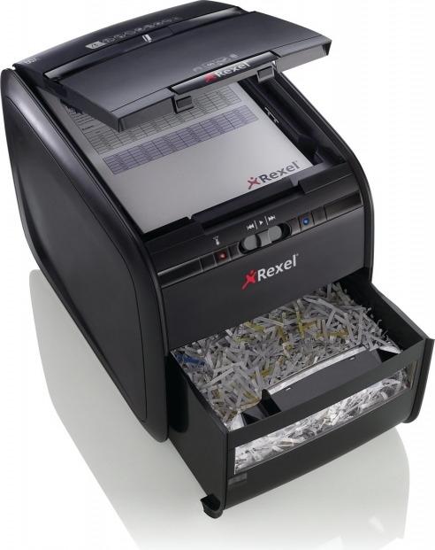 Distrugator Automat documente REXEL Auto+ 60X, 60 coli, P3, cross-cut (confeti) 1