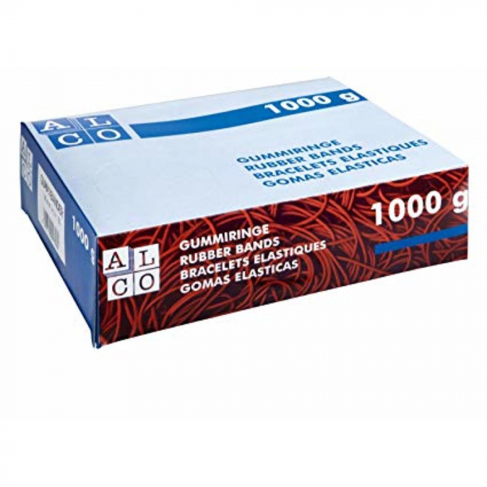 Elastice pentru bani, 1000g/cutie, D 200 x 6mm, ALCO 0