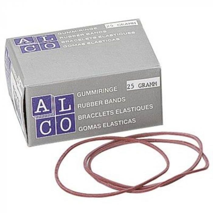 Elastice pentru bani, 50g/cutie, D 85 x 1,5mm, ALCO [0]