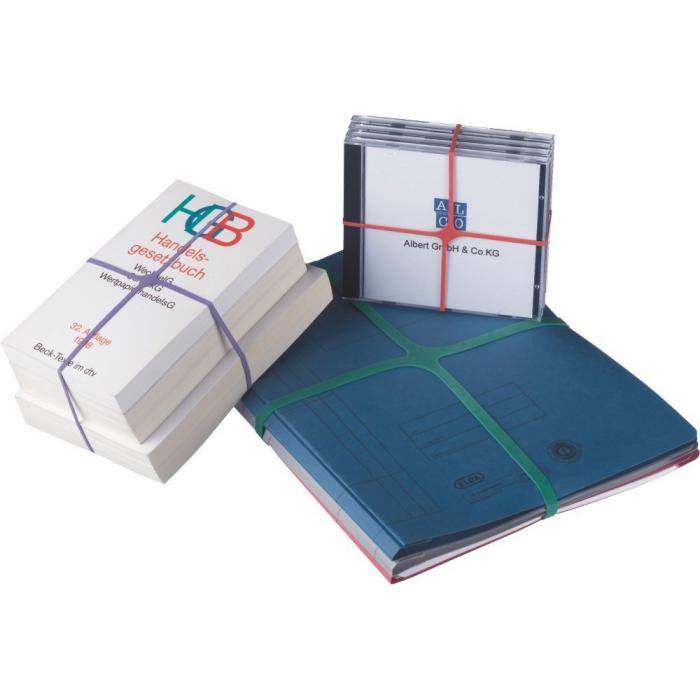 Elastice pentru carti, forma X, 100g/cutie, D 150 x 11mm, ALCO [0]