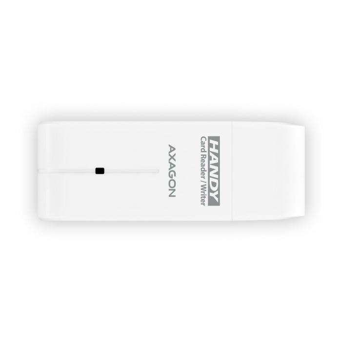 External HANDY Card Reader 4-slot SD/MicroSD/MS/M2, White [12]