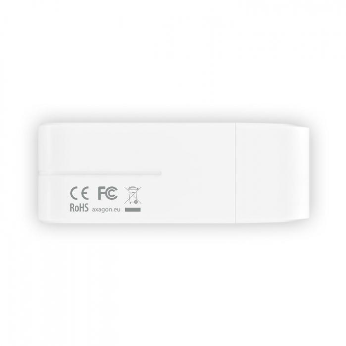 External HANDY Card Reader 4-slot SD/MicroSD/MS/M2, White [2]