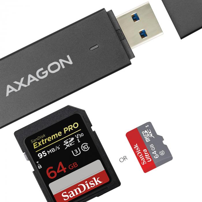External USB 3.0, 2-slot SD/microSD [19]