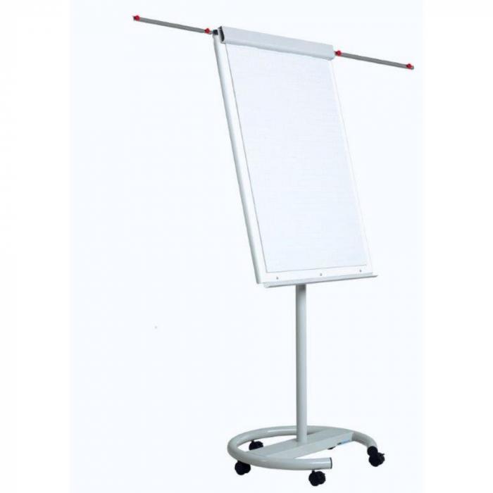 Flipchart magnetic, dimensiuni 70 x 100 cm, cu brate laterale, cu rotile, Optima Vision [0]