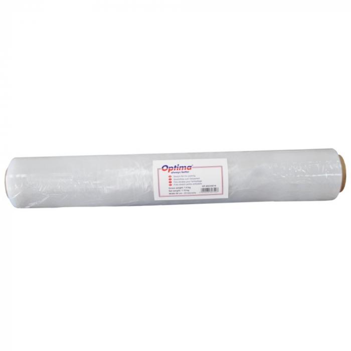 Folie stretch transparenta Optima, manuala, 50cm latime, 23microni 0
