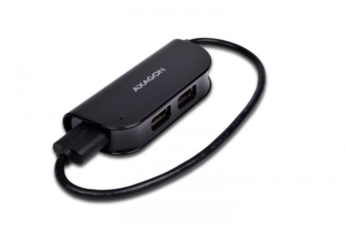 Hub USB AXAGON X4B cu 4 porturi USB2.0, Negru [1]