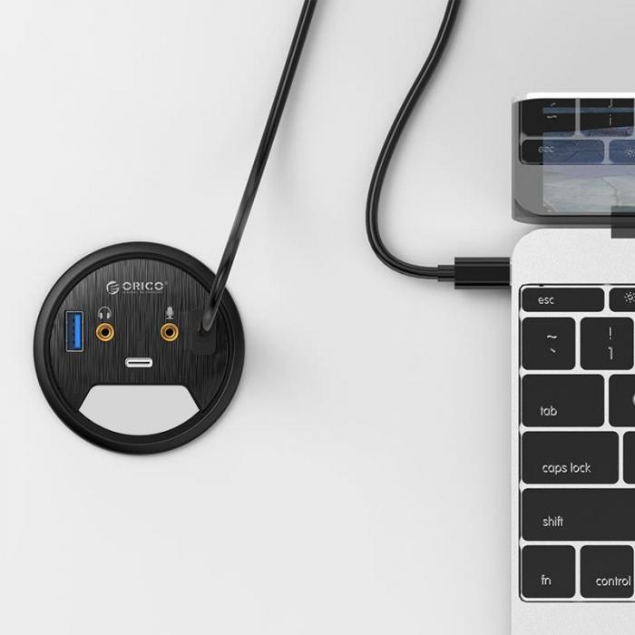 HUB USB multifunctional Orico DESK-2U1C negru [5]