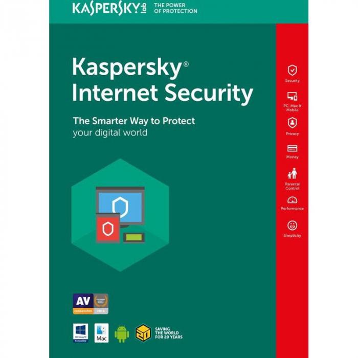 Antivirus Kaspersky Internet Security Multi Device, 3 Dispozitive, 1 An, Licenta de reinnoire, Retail [0]