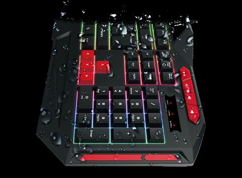 Kit gaming Gamdias Poseidon M2 iluminare RGB negru 4