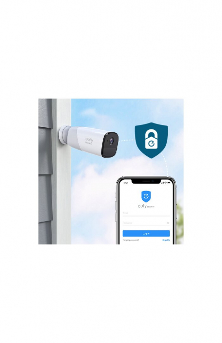 Kit supraveghere video eufyCam 2 Security wireless, HD 1080p, IP67, Nightvision, 4 camere video 14