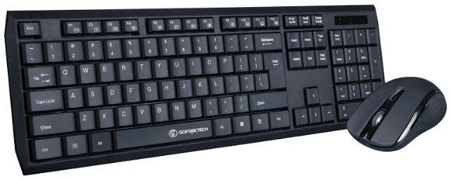 Kit wireless tastatura si mouse Gofreetech GFT-S005 negru [1]