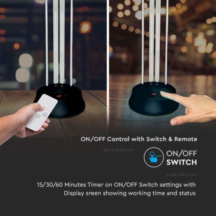 Lampa sterilizare UVC 38w cu telecomanda si senzor 1