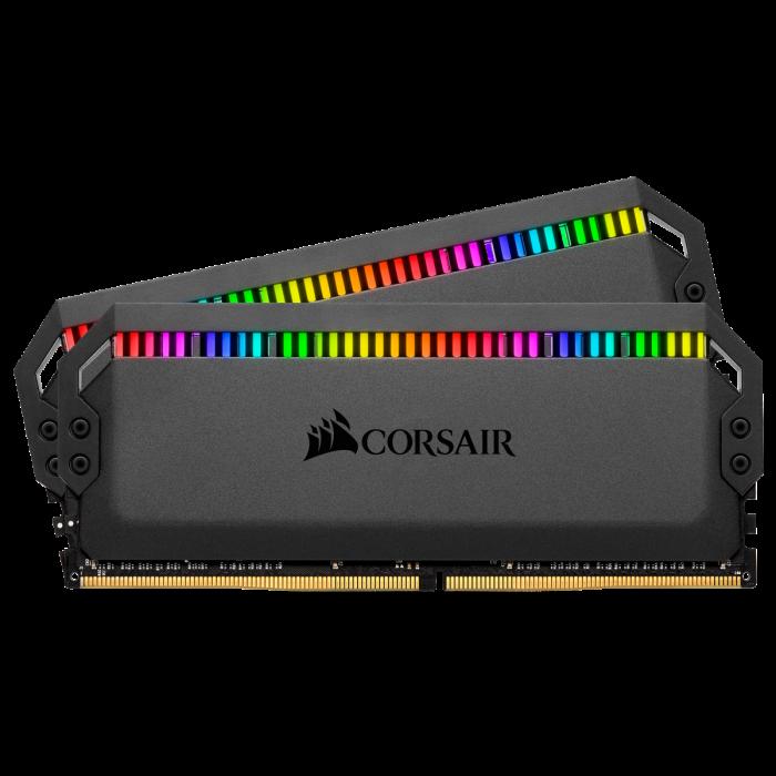 Memorie Corsair Dominator Platinum RGB, 32GB (2 x 16GB), DDR4, 3200MHz, C16 [1]