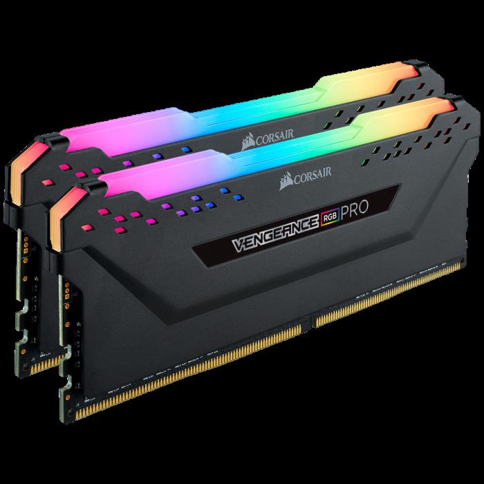 Memorie Corsair VENGEANCE RGB PRO 16GB (2 x 8GB) DDR4 3600MHz C18, 1.35v — Negru [1]