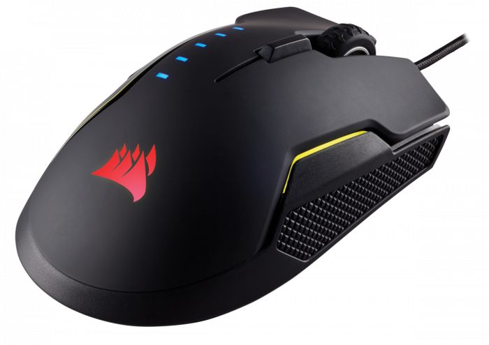 Mouse Corsair GLAIVE gaming RGB LED, 16000 DPI 5