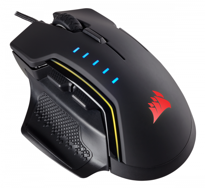 Mouse Corsair GLAIVE gaming RGB LED, 16000 DPI 3