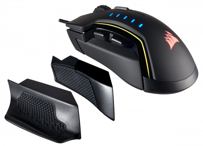 Mouse Corsair GLAIVE gaming RGB LED, 16000 DPI 0