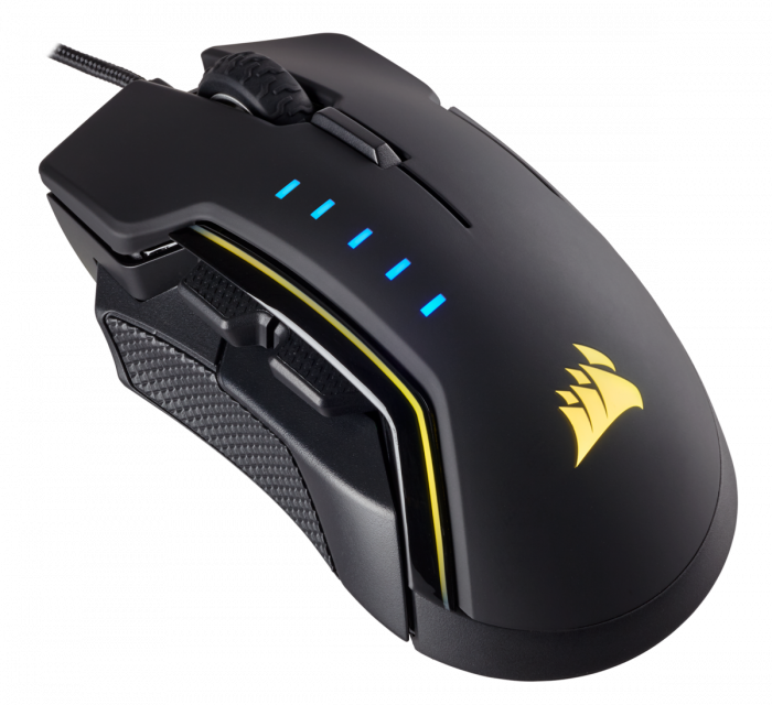 Mouse Corsair GLAIVE gaming RGB LED, 16000 DPI 2