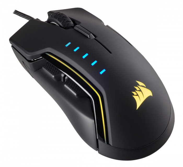 Mouse Corsair GLAIVE gaming RGB LED, 16000 DPI 1