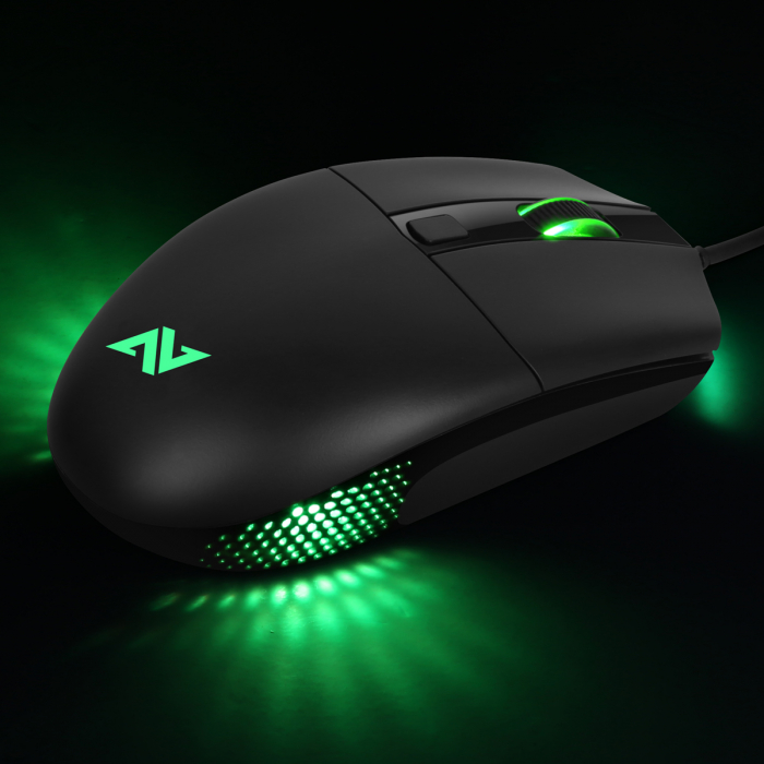 Mouse gaming ABKONCORE A660, 10000DPI, RGB, negru [4]
