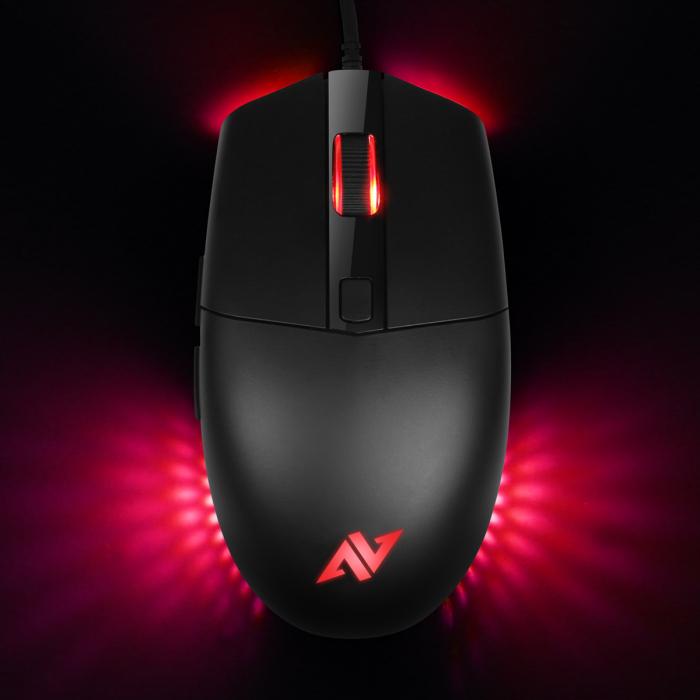Mouse gaming ABKONCORE A660, 10000DPI, RGB, negru [0]