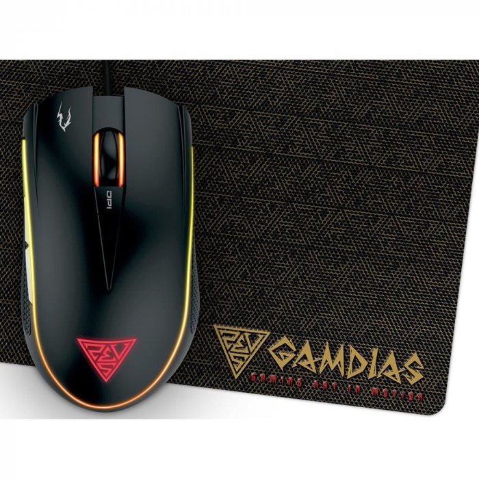 Mouse gaming Gamdias Zeus E2 ilumanare RGB negru + Nyx E1 [22]