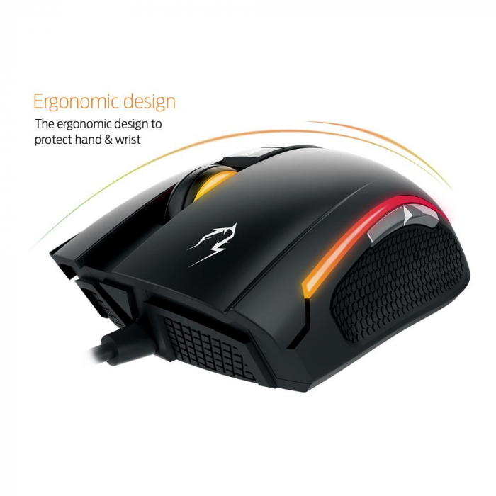 Mouse gaming Gamdias Zeus E2 ilumanare RGB negru + Nyx E1 [7]
