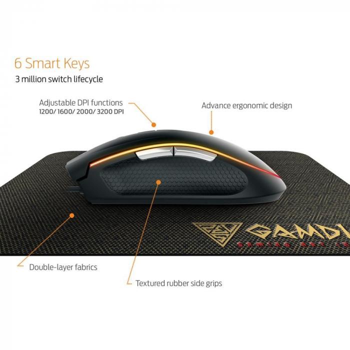 Mouse gaming Gamdias Zeus E2 ilumanare RGB negru + Nyx E1 [4]