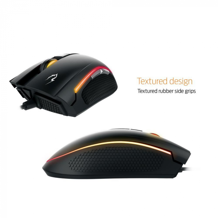Mouse gaming Gamdias Zeus E2 ilumanare RGB negru + Nyx E1 [6]