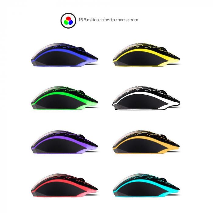 Mouse gaming Riotoro Uruz Z5 Lightning iluminare RGB negru [7]