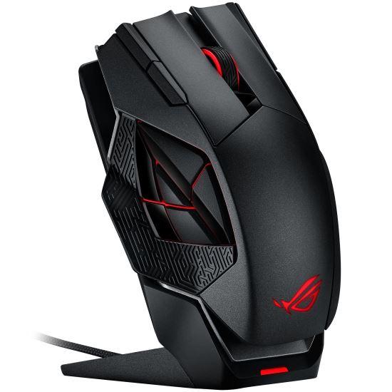 Mouse gaming wireless si cu fir Asus ROG Spahta negru [0]