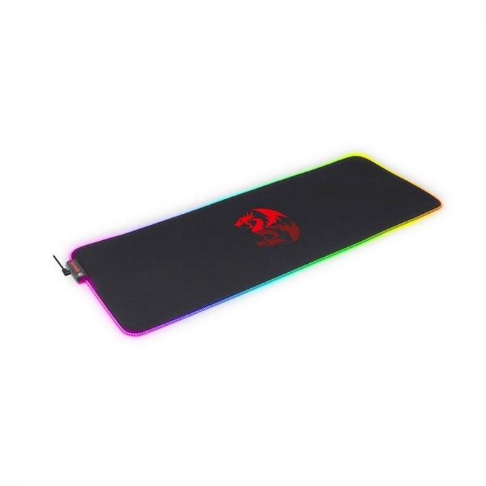 Mousepad gaming Redragon Neptune negru iluminare RGB [1]