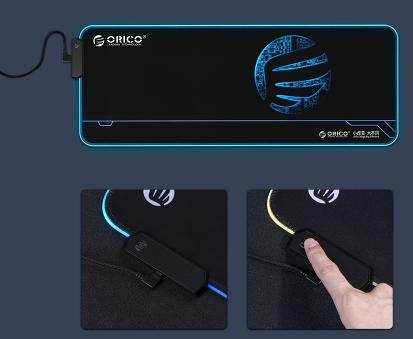Mousepad Orico FSD-15 negru iluminare RGB [3]