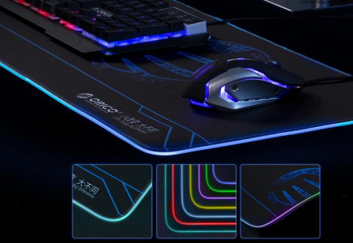 Mousepad Orico FSD-15 negru iluminare RGB [4]