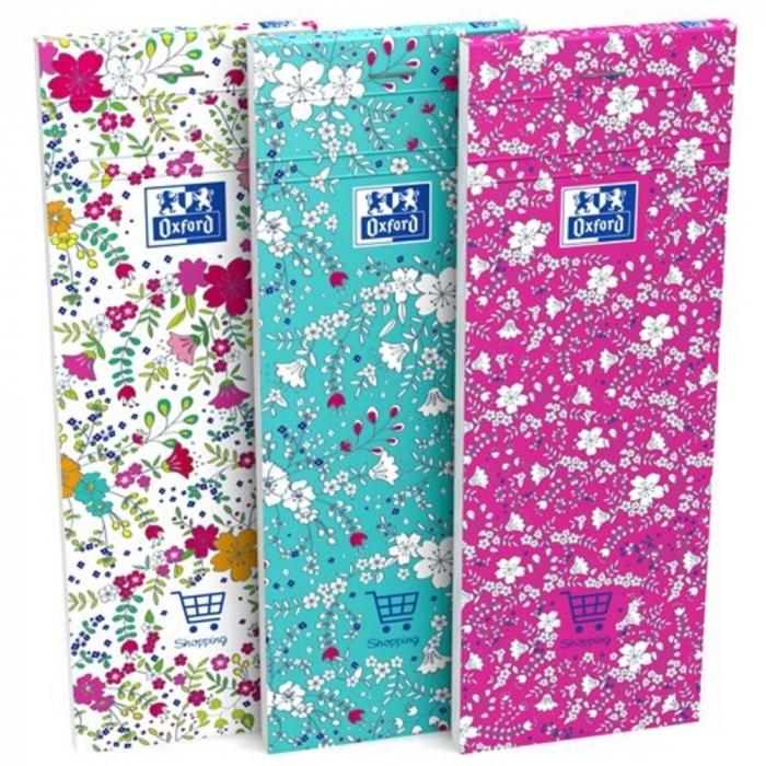 Notes OXFORD Floral Shopping list 7,4 x 21 cm, 160 file, coperti carton - dictando [0]