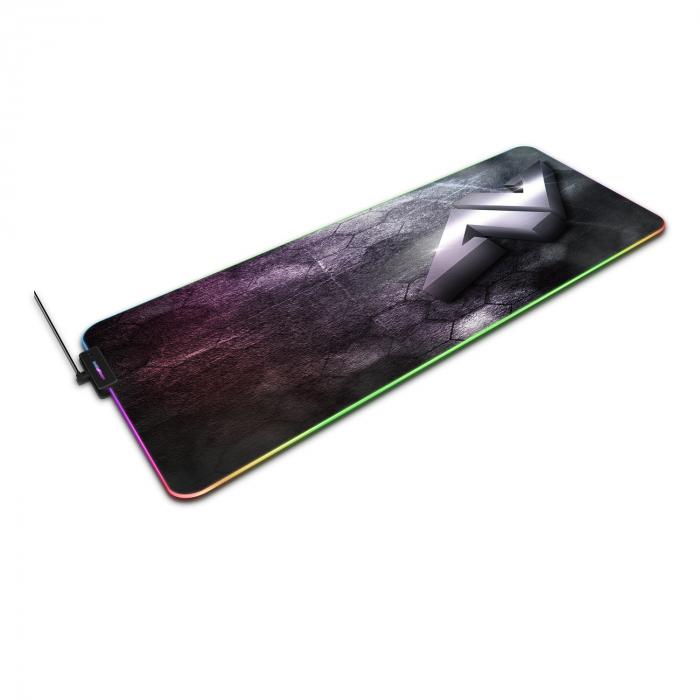 Pachet Carcasa Deepcool Kendomen TI + Mouse pad gaming ABKONCORE LP800 RGB 1