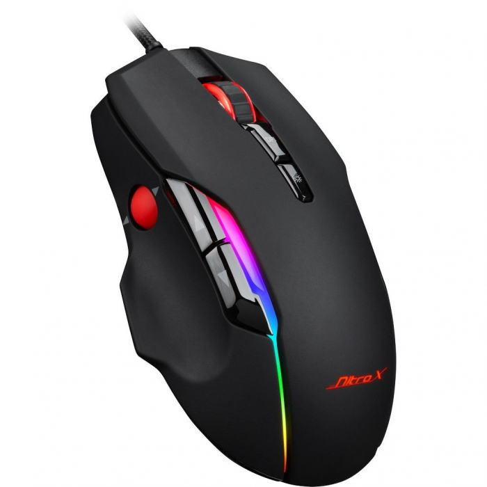 Pachet gaming Inter-Tech, tastatura gaming mecanica Nitrox RGB + mouse gaming Nitrox GT-200 RGB 6