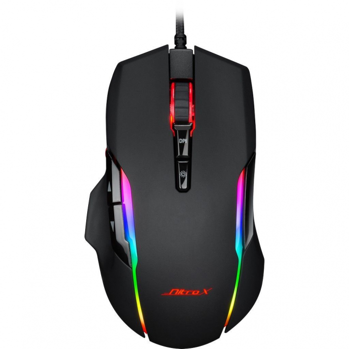 Pachet gaming Inter-Tech, tastatura gaming mecanica Nitrox RGB + mouse gaming Nitrox GT-200 RGB 4