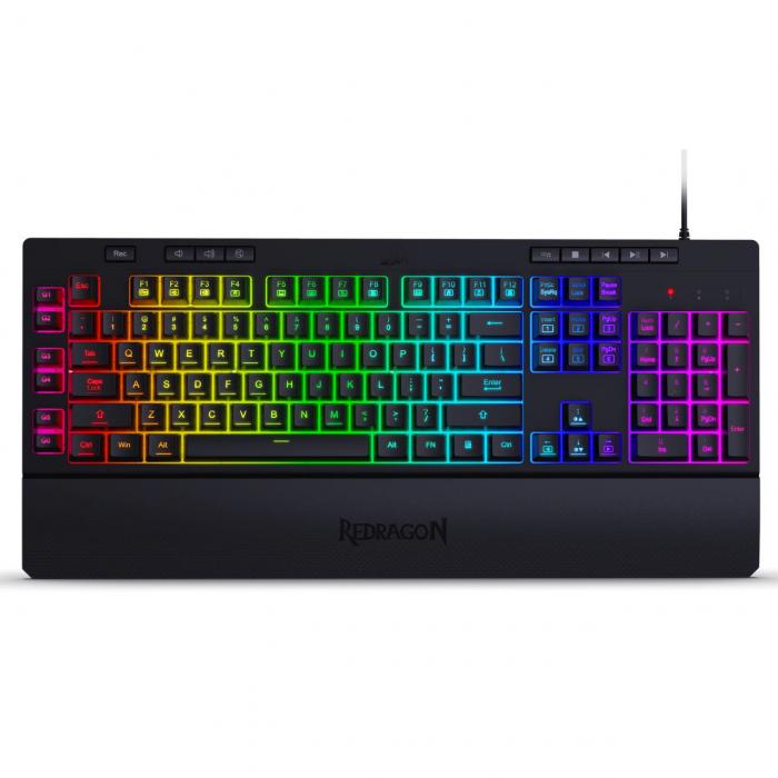 Pachet Redragon tastatura gaming Shiva + mouse gaming Emperor + mousepad gaming Taurus 2