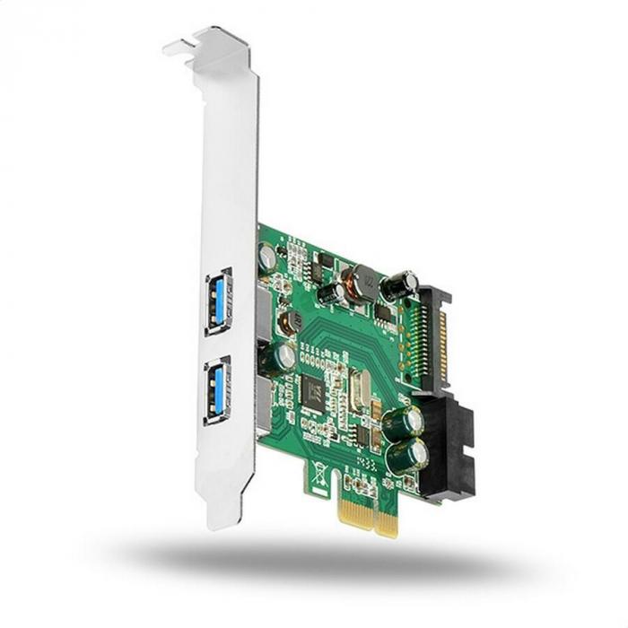 PCIe Adapter 2+2x USB3.0 UASP VIA + LP [3]