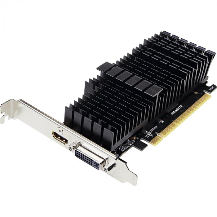 Placa video GIGABYTE GeForce GT 710 2GB GDDR5 64-bit Low Profile 1